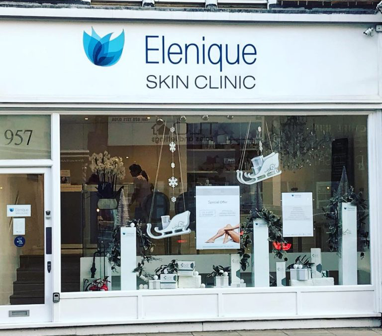 Christmas Displays at Elenique Skin Clinic London