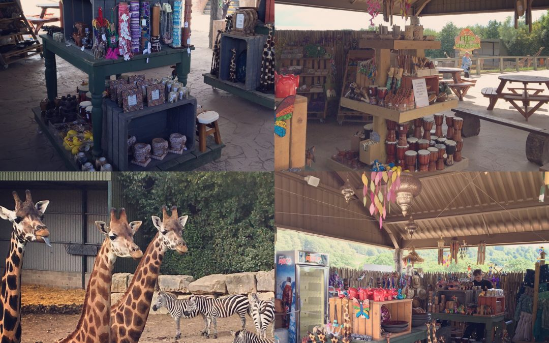 Installing African Themed Market at Longleat