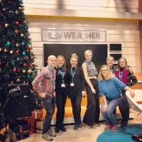 Installing Christmas at itv Studios London